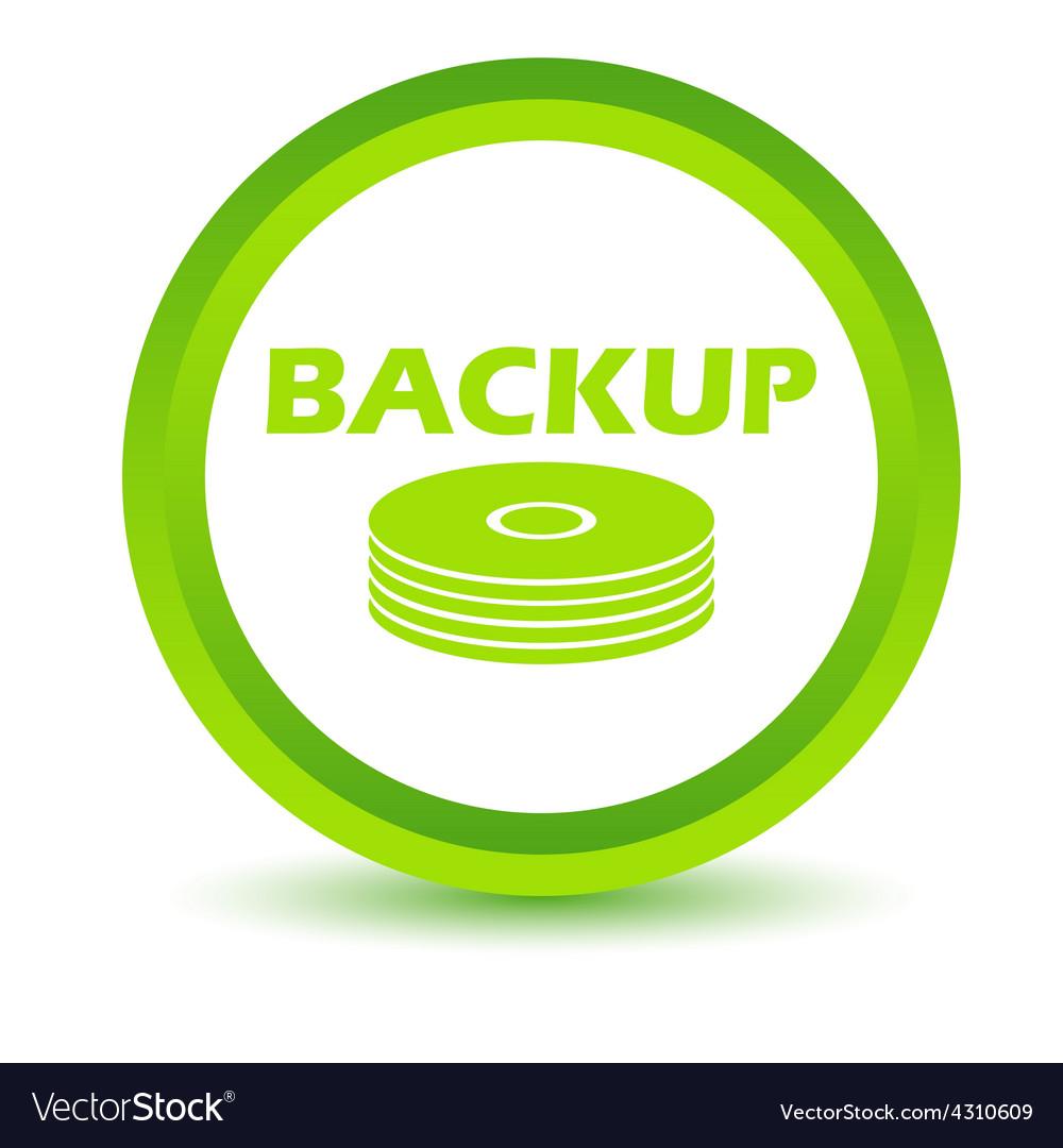 Green backup icon vector | Price: 1 Credit (USD $1)