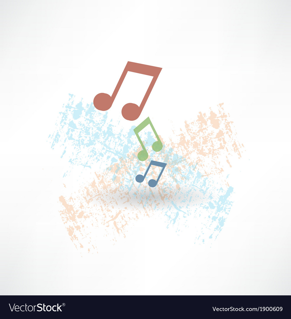 Music notes icon vector | Price: 1 Credit (USD $1)