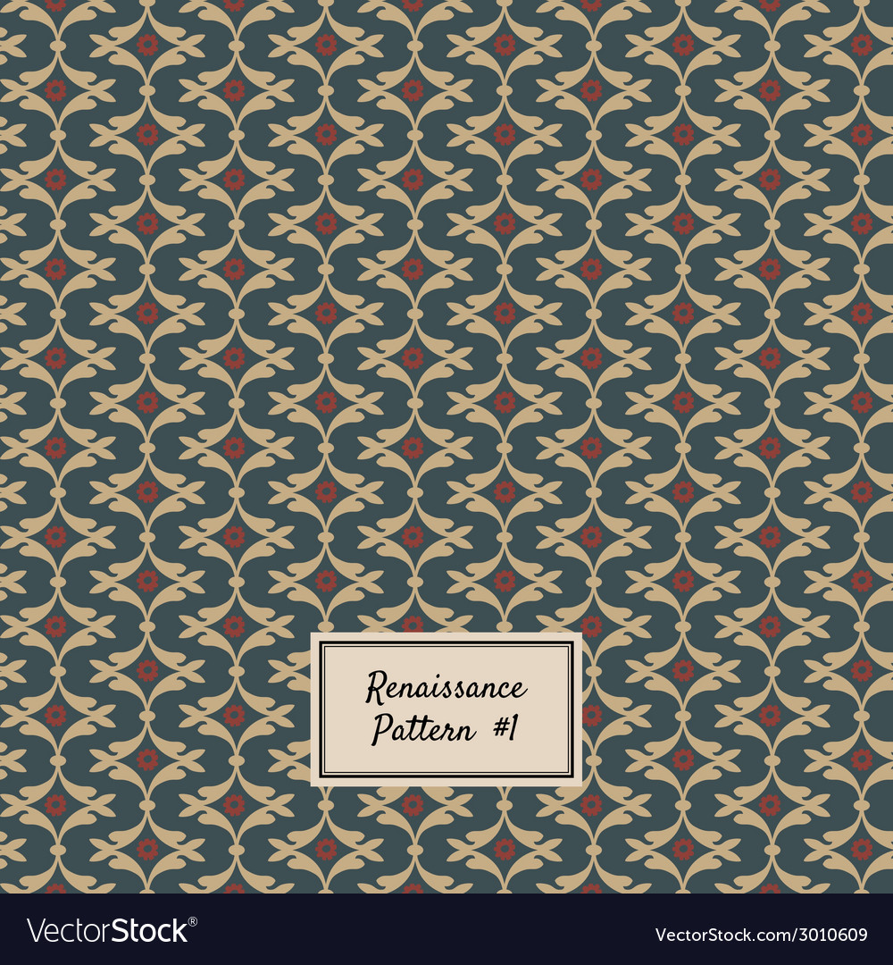 Pattern renaissance style vector | Price: 1 Credit (USD $1)