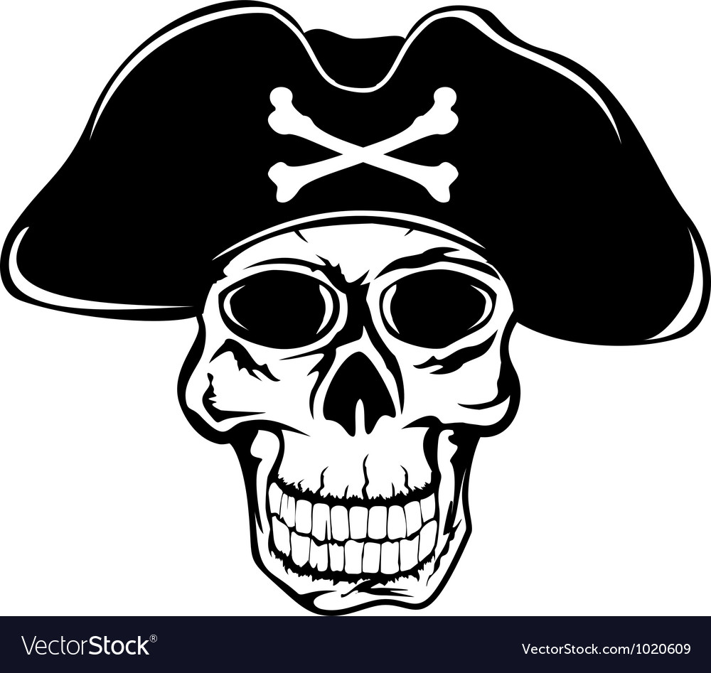 Pirate in hat vector | Price: 1 Credit (USD $1)