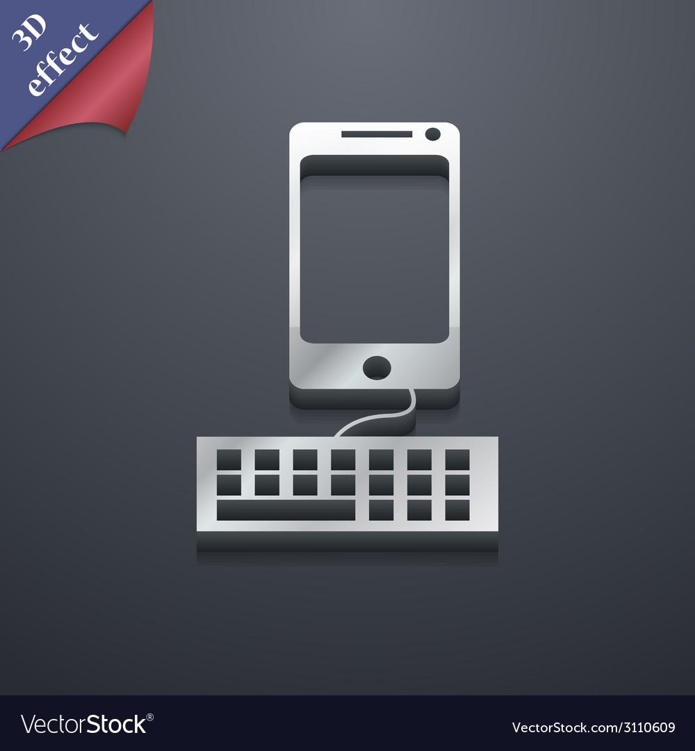 Smartphone widescreen icon symbol 3d style trendy vector | Price: 1 Credit (USD $1)