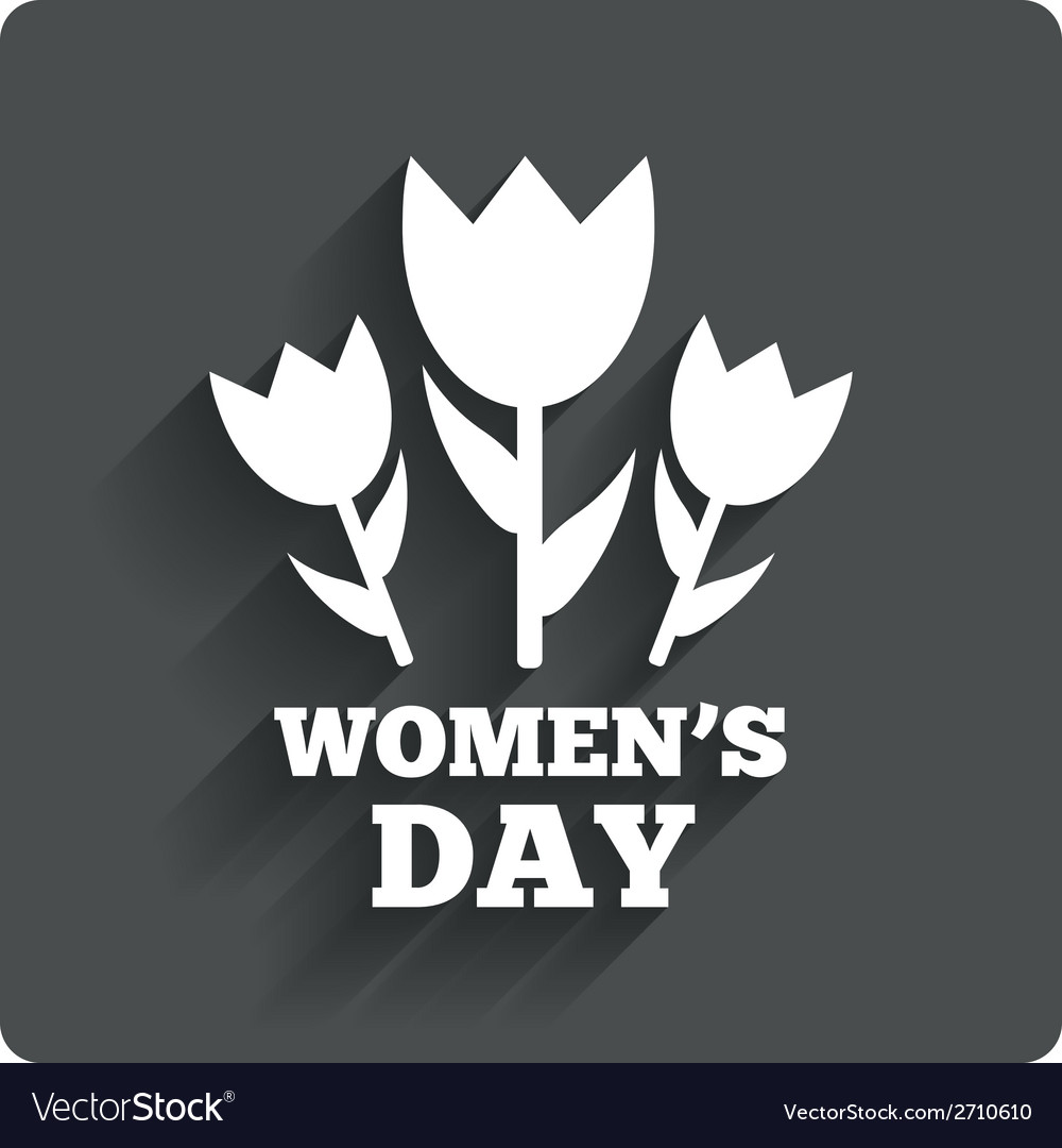 8 march womens day sign icon flowers symbol vector | Price: 1 Credit (USD $1)