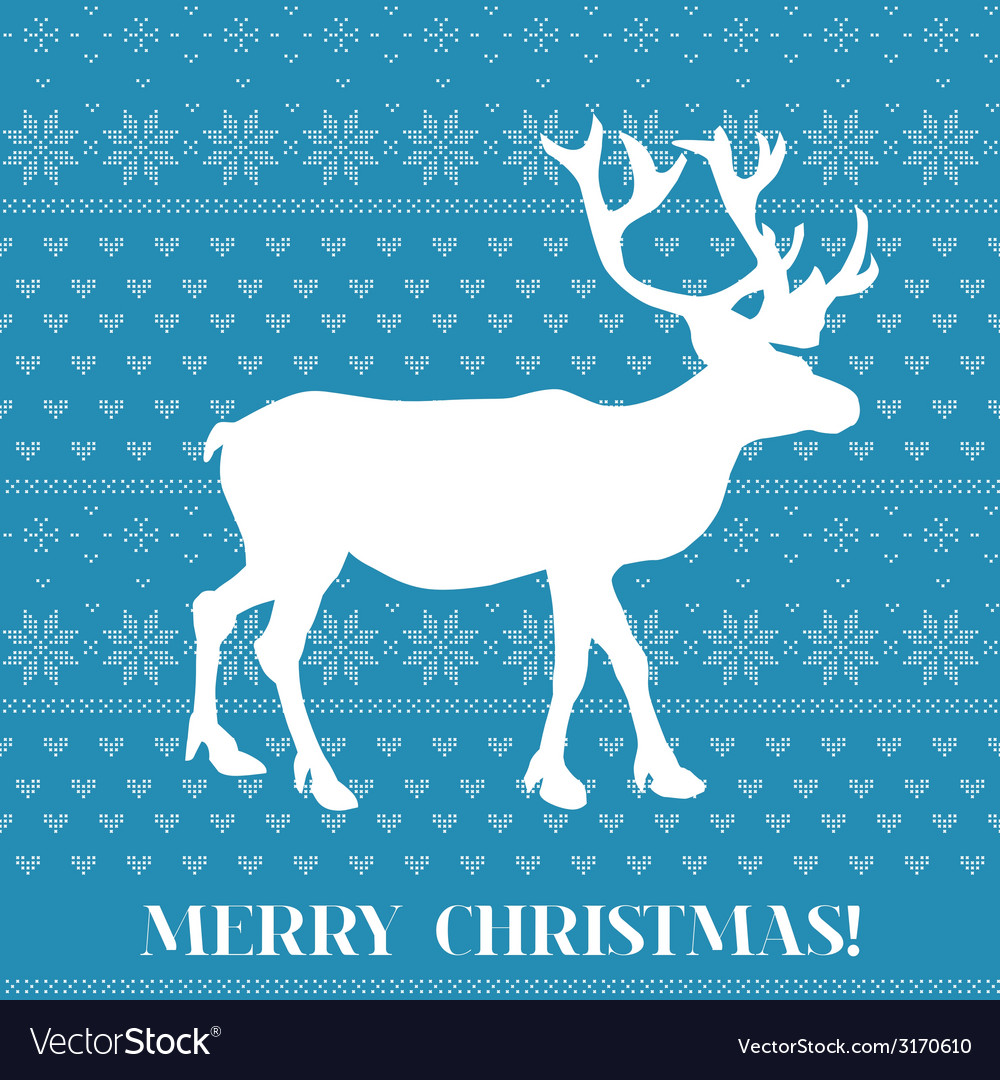 Christmas card - scandinavian knit style vector | Price: 1 Credit (USD $1)