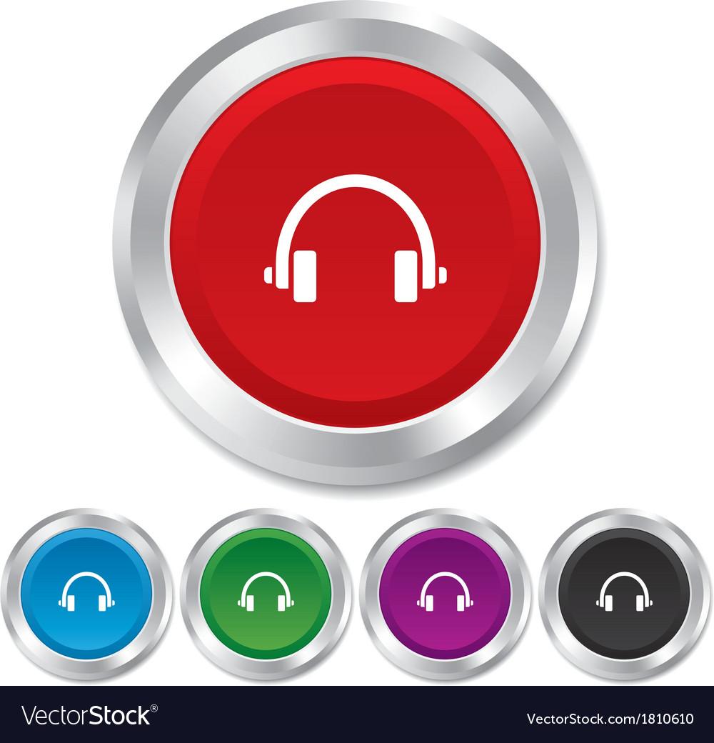 Headphones sign icon earphones button vector | Price: 1 Credit (USD $1)