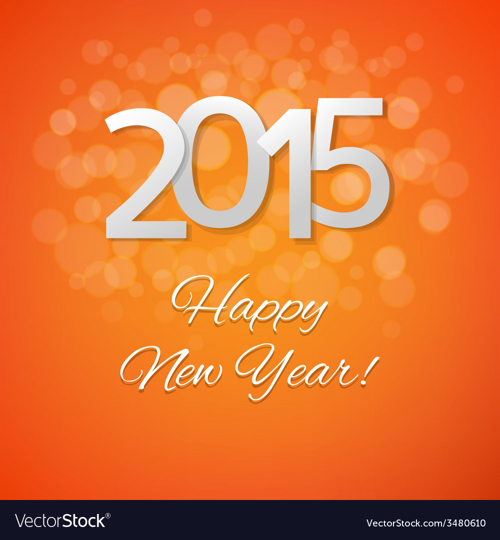 Orange new year card vector | Price: 1 Credit (USD $1)