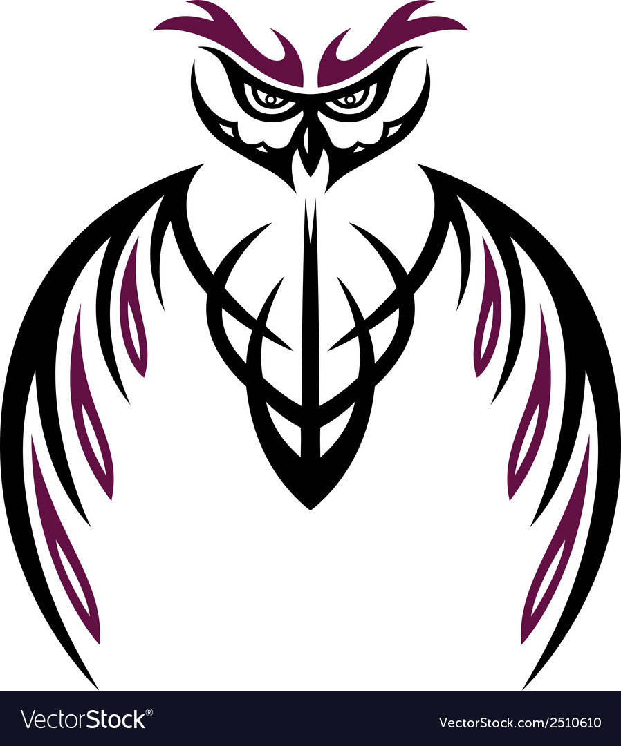 Owl tattoo vector | Price: 1 Credit (USD $1)