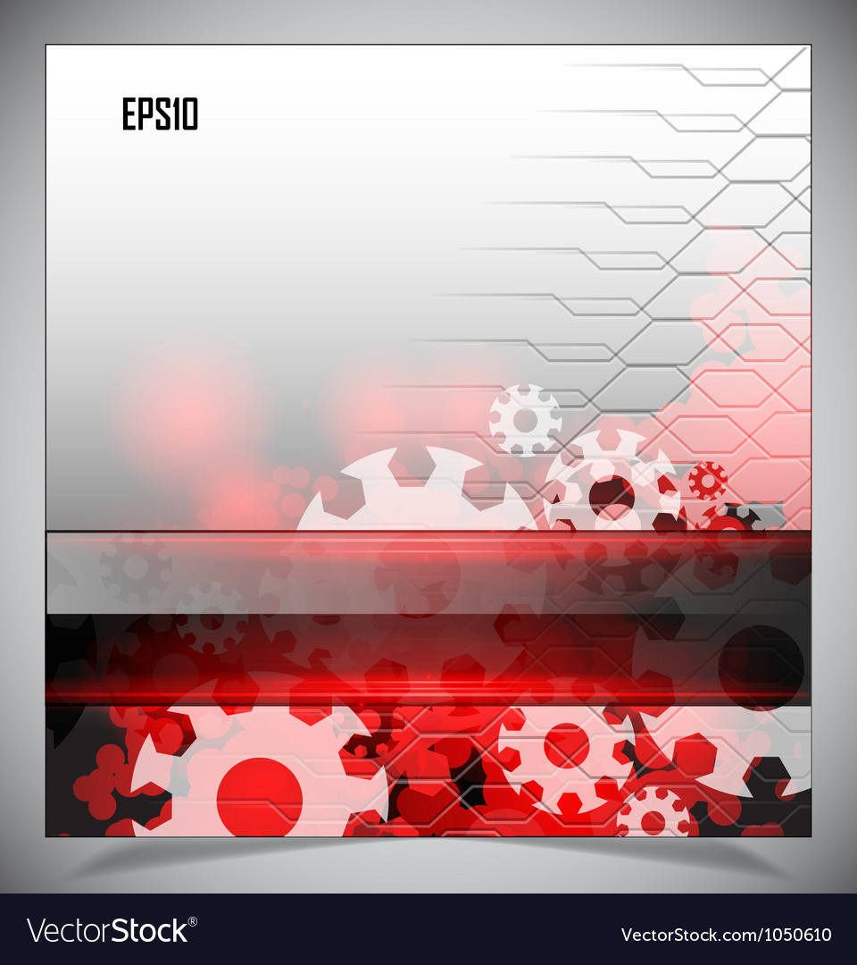Red and white modern futuristic background vector | Price: 1 Credit (USD $1)