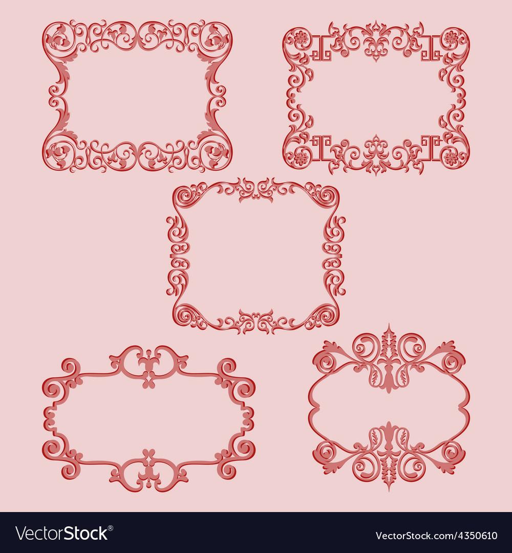 Set frame pattern red vector   Price: 1 Credit (USD $1)
