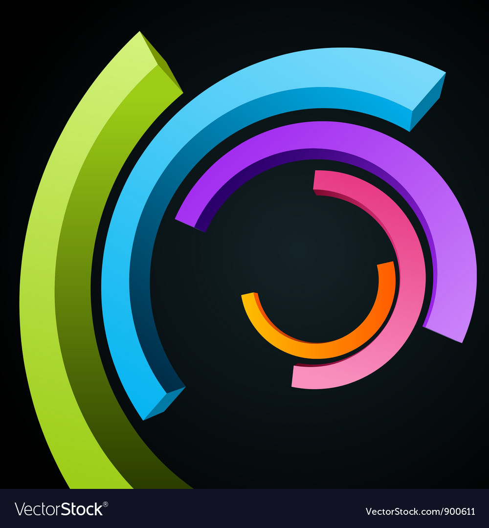 Abstract circle rings background vector | Price: 1 Credit (USD $1)