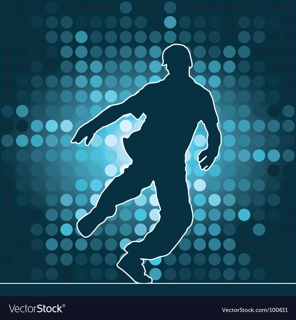 Breakdance silhouette vector | Price: 1 Credit (USD $1)