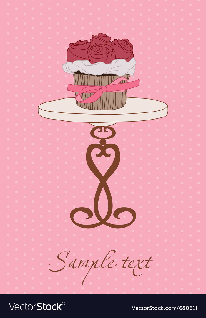 Cupcake wedding invitation vector | Price: 1 Credit (USD $1)