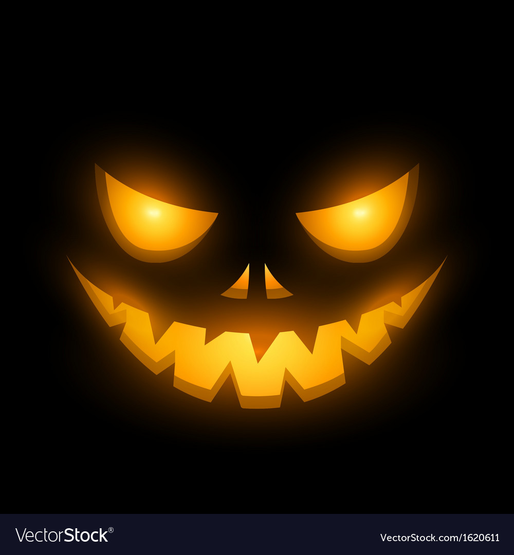 Halloween scary illuminated face in the dark vector | Price: 1 Credit (USD $1)