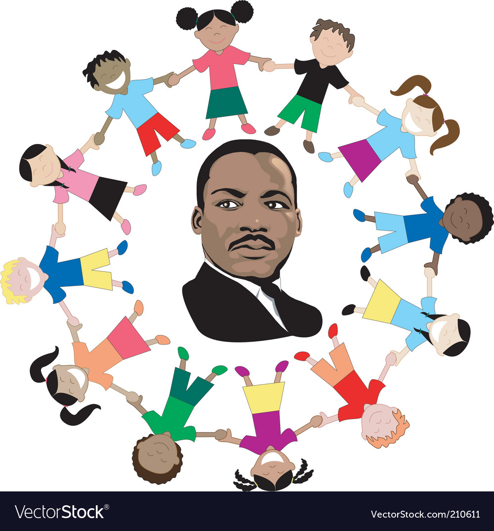 Martin luther king kids vector | Price: 1 Credit (USD $1)