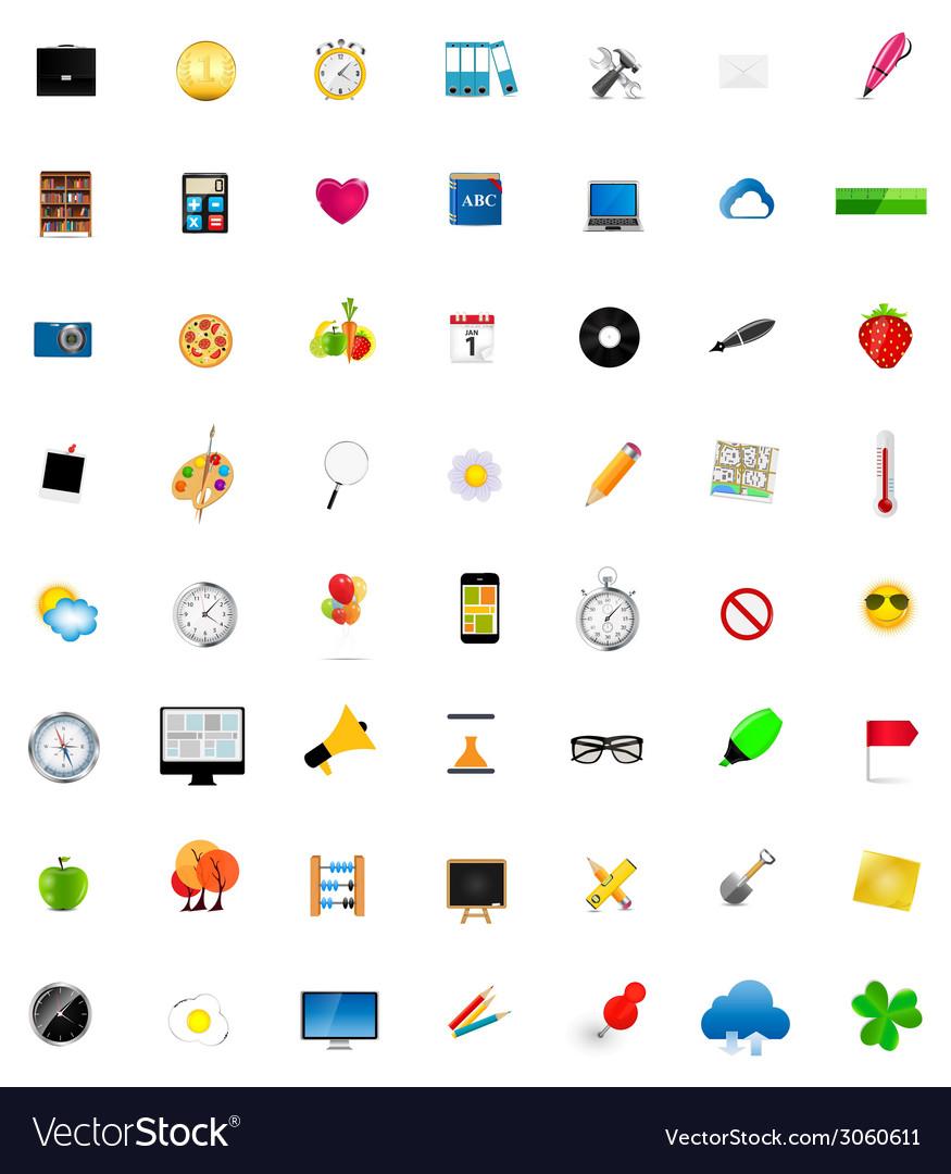 Mega set of flat icons vector | Price: 1 Credit (USD $1)