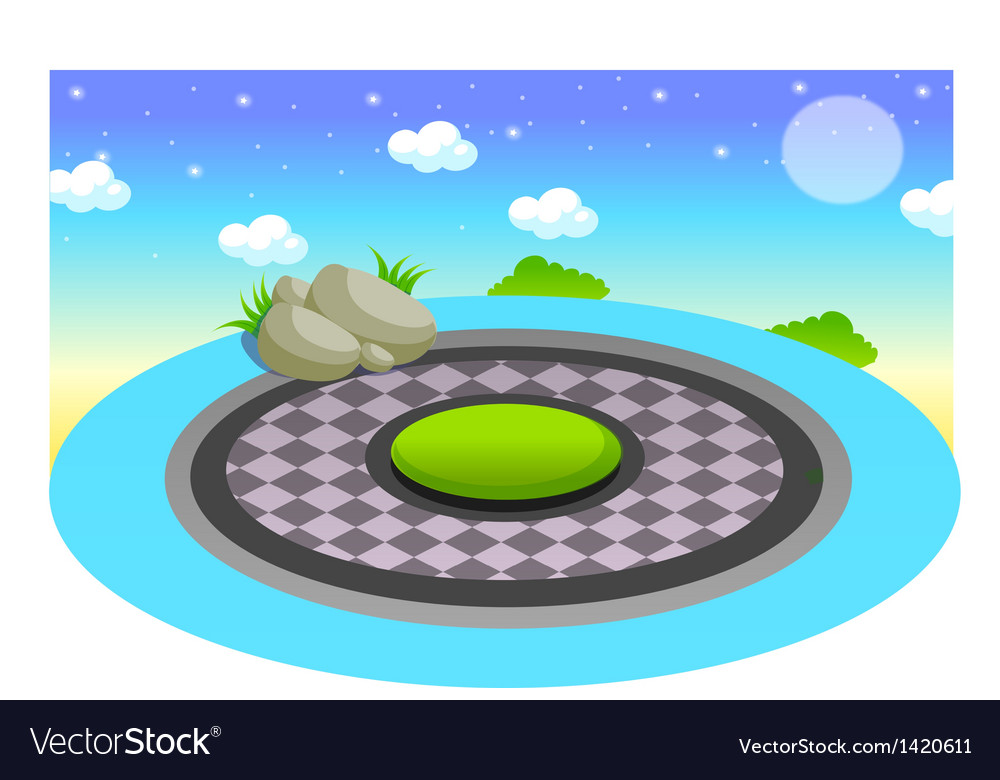Pool at night vector | Price: 1 Credit (USD $1)