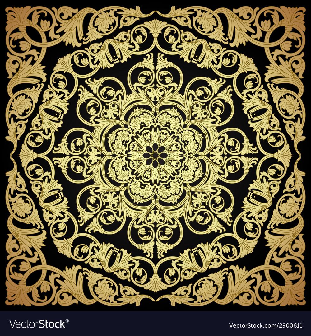 Seamless pattern damask motif wallpaper vector | Price: 1 Credit (USD $1)