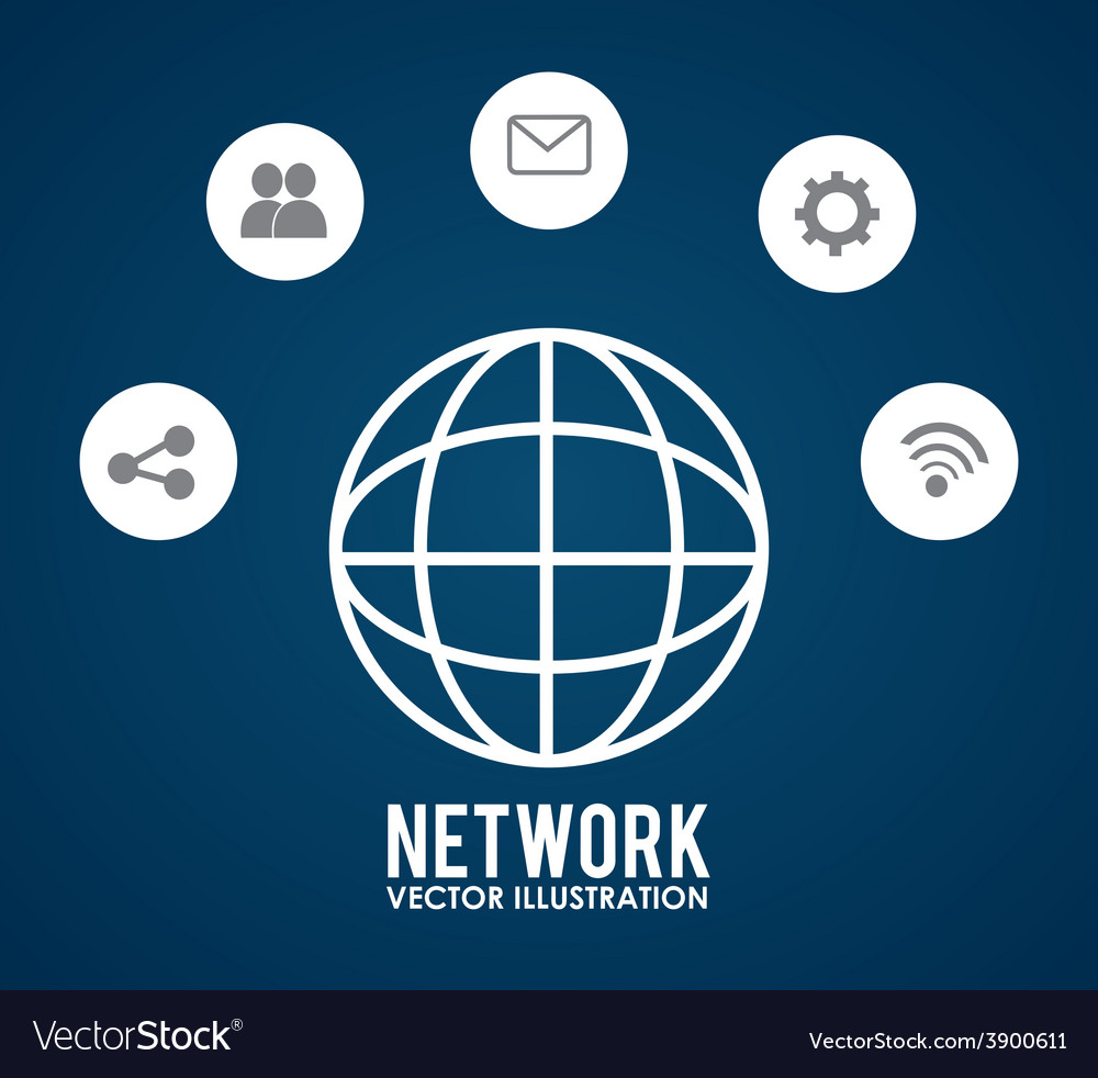 Social network design vector   Price: 1 Credit (USD $1)