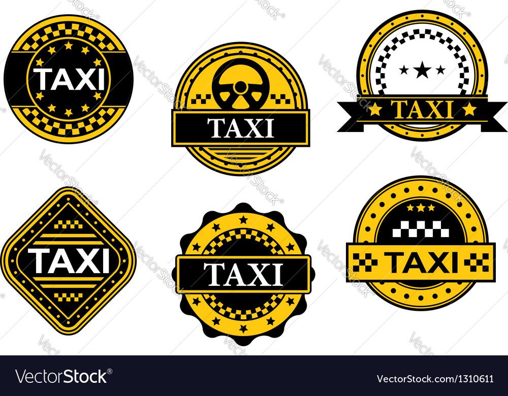 Taxi service symbols vector | Price: 1 Credit (USD $1)