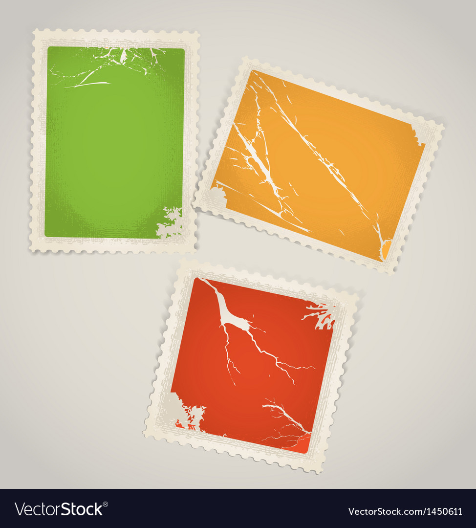 Vintage color post stamps template clip-art vector | Price: 1 Credit (USD $1)