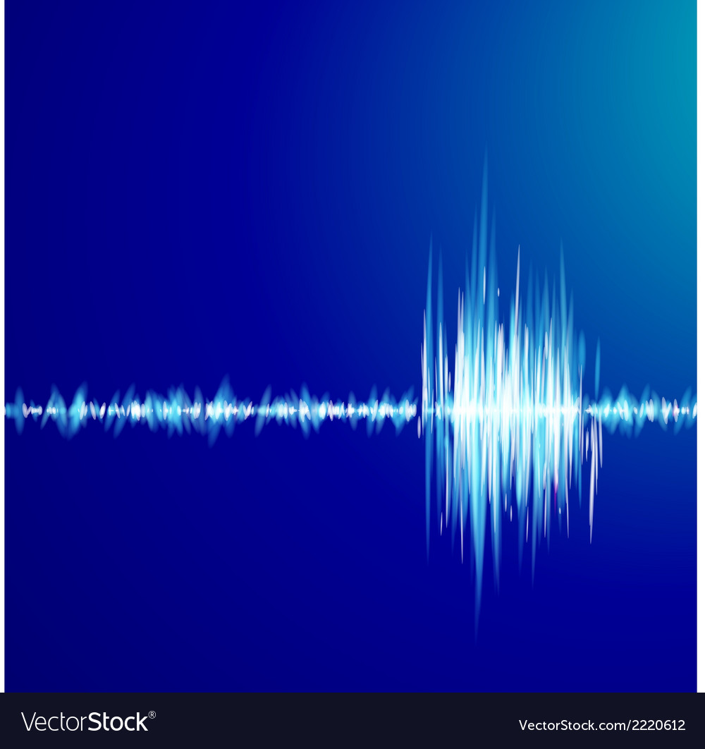 Blue graph of sound vector | Price: 1 Credit (USD $1)