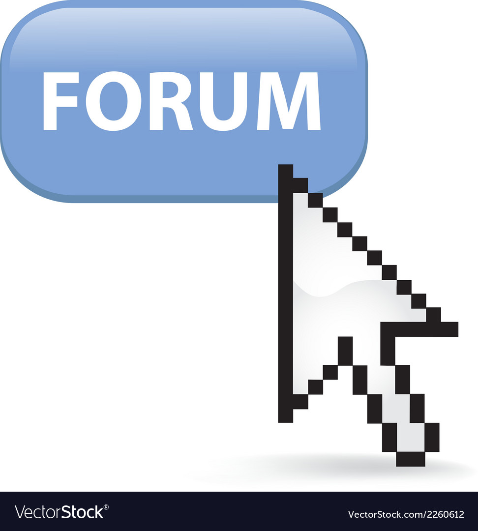 Forum button click vector | Price: 1 Credit (USD $1)