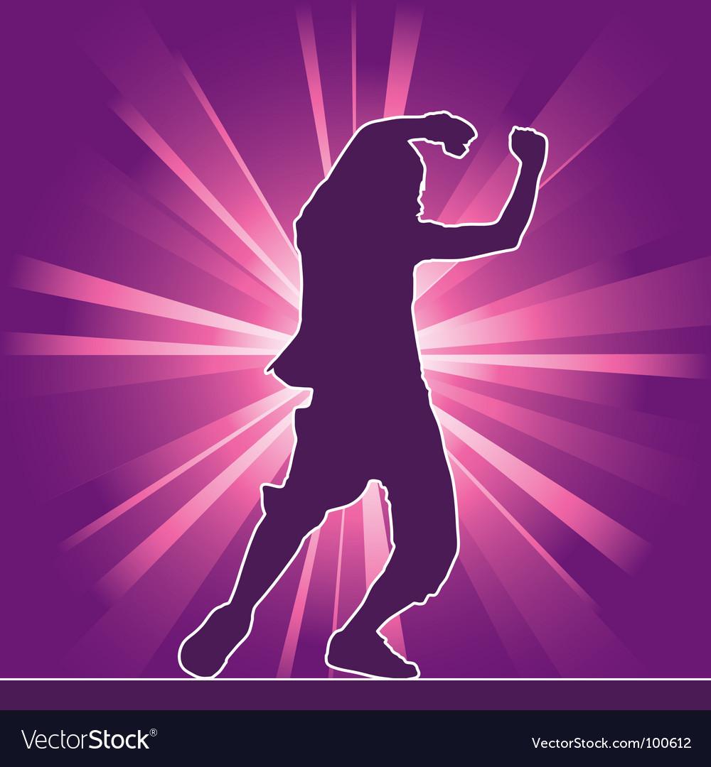 Hip-hop dancing silhouette vector | Price: 1 Credit (USD $1)