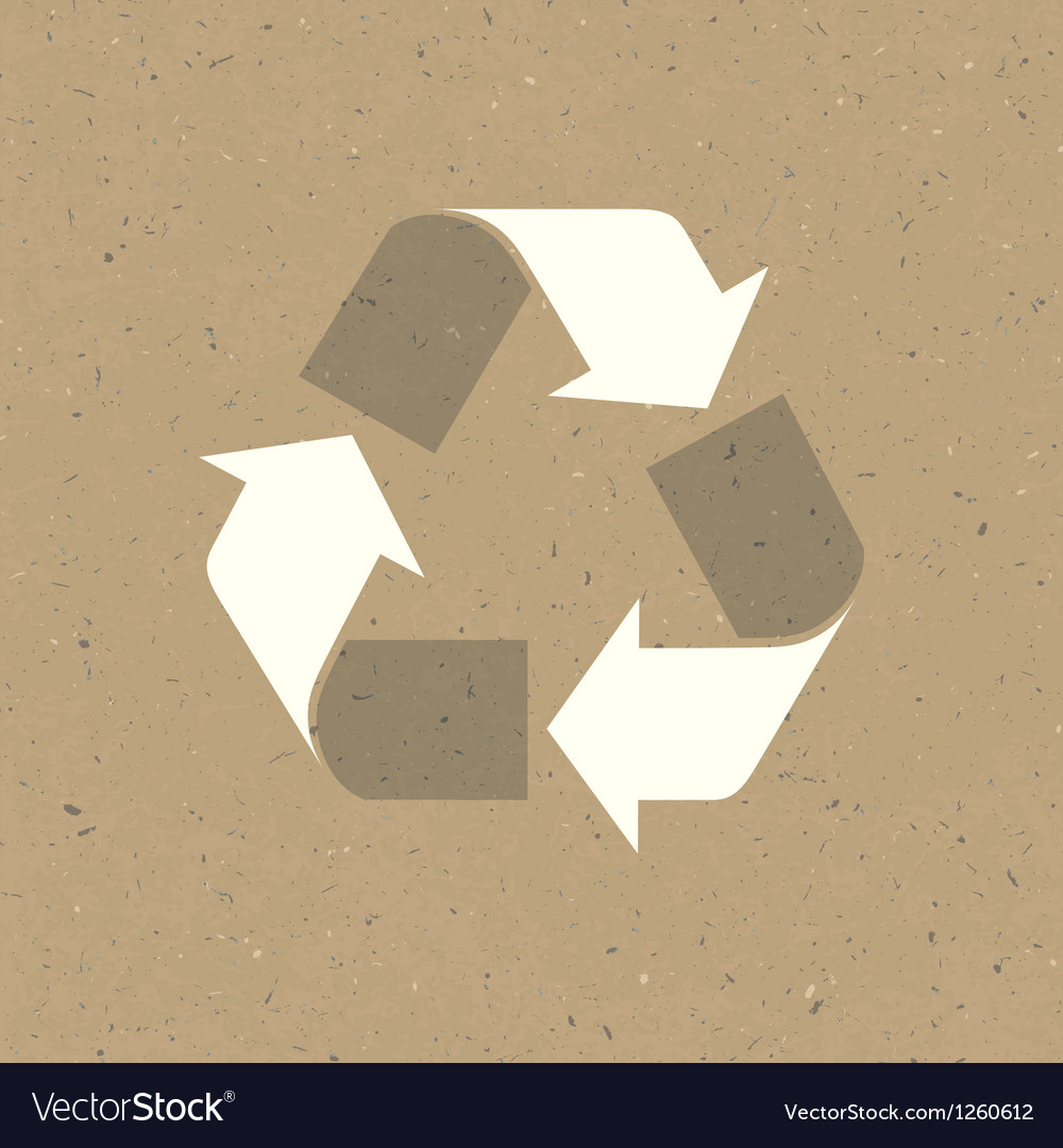 Recycled sign on reuse paper texture vector | Price: 1 Credit (USD $1)