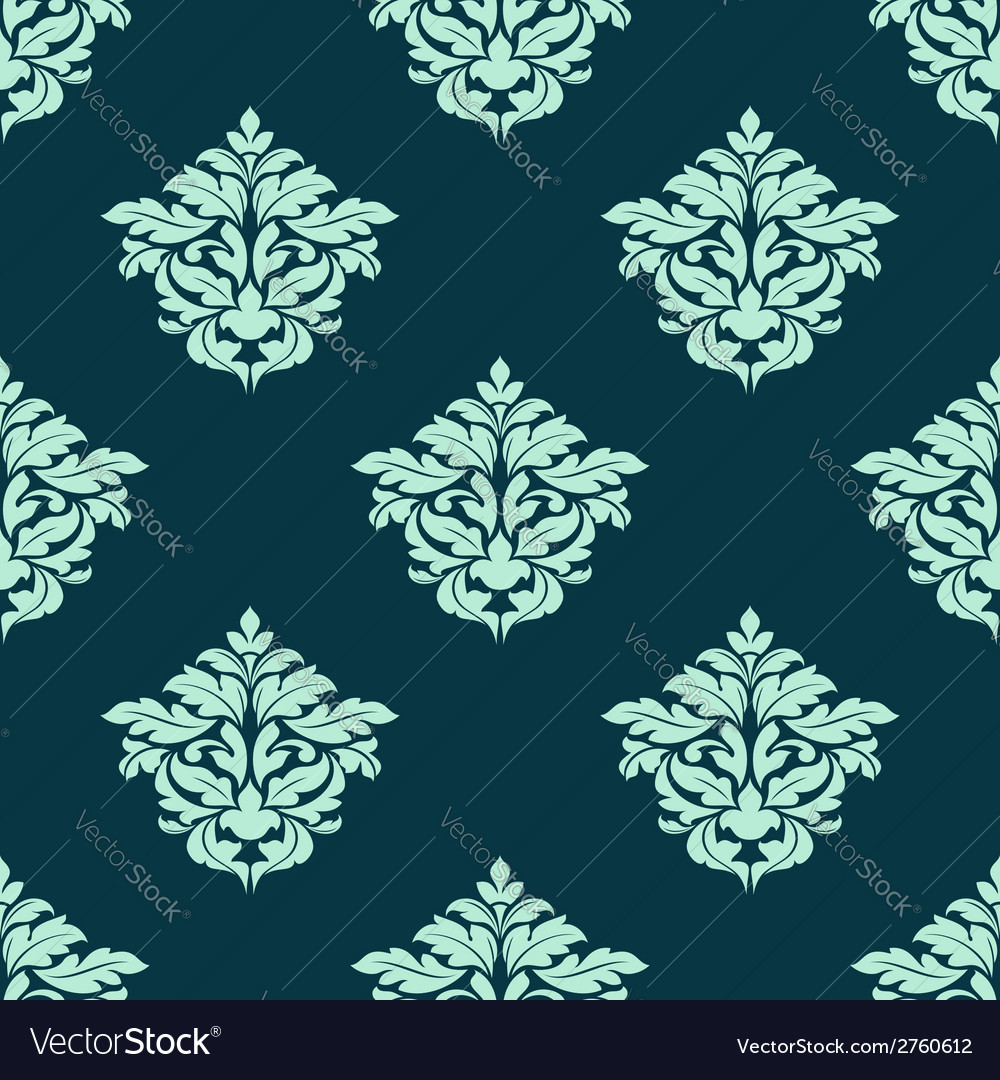 Retro light green seamless pattern vector | Price: 1 Credit (USD $1)