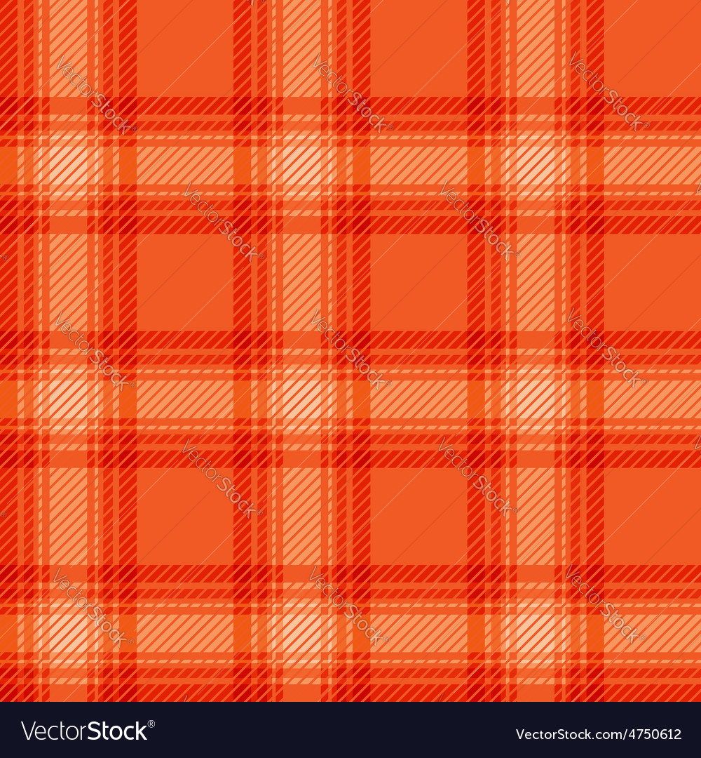 Seamless orange fabric tartan vector | Price: 1 Credit (USD $1)