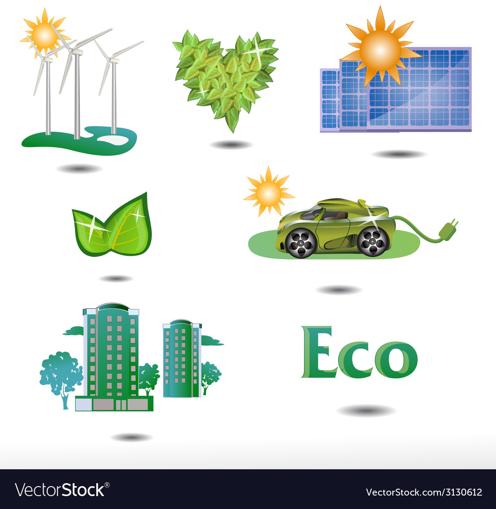 Set eco vector | Price: 1 Credit (USD $1)