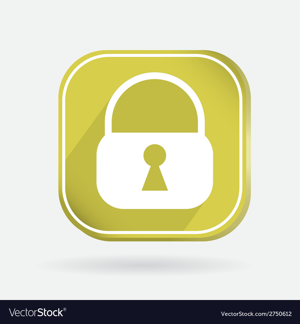 Square icon padlock vector | Price: 1 Credit (USD $1)