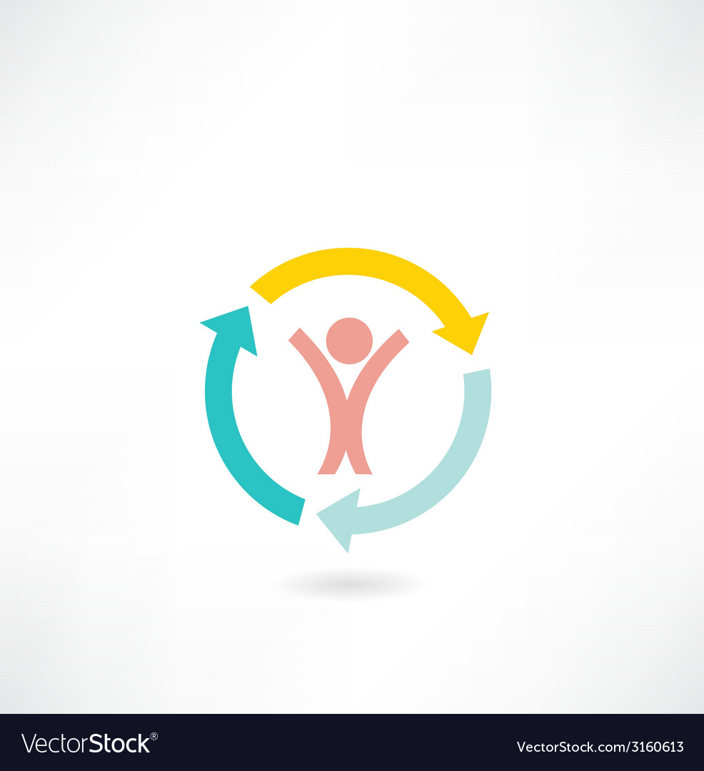 Arrow icon people vector | Price: 1 Credit (USD $1)
