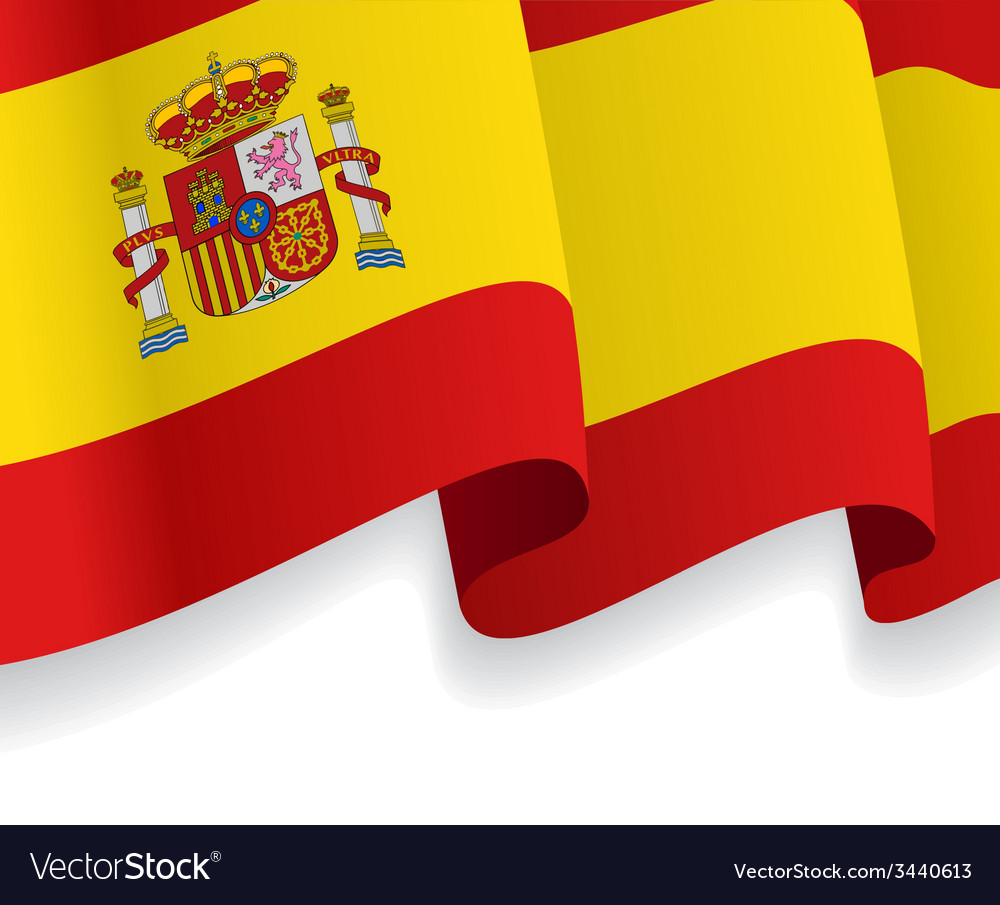 Background with waving spanish flag vector | Price: 1 Credit (USD $1)