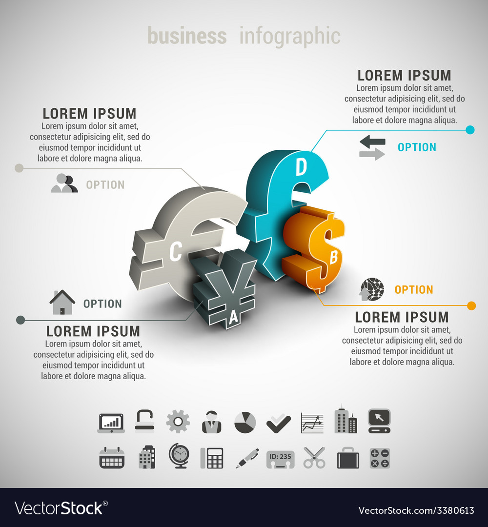 Business infographic vector | Price: 1 Credit (USD $1)