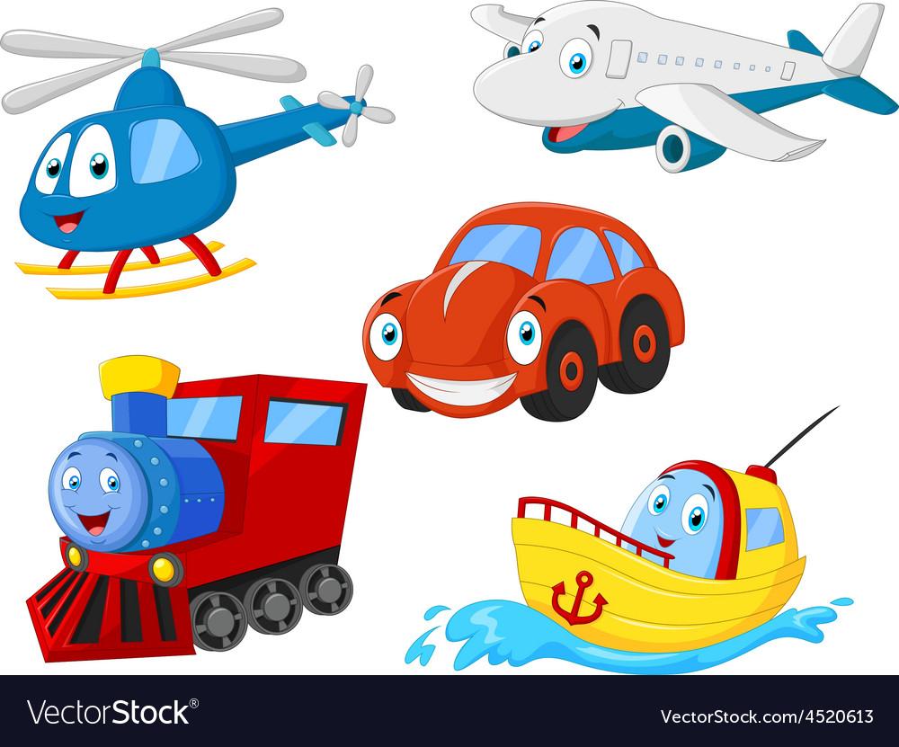 Cartoon transportation collection vector | Price: 1 Credit (USD $1)