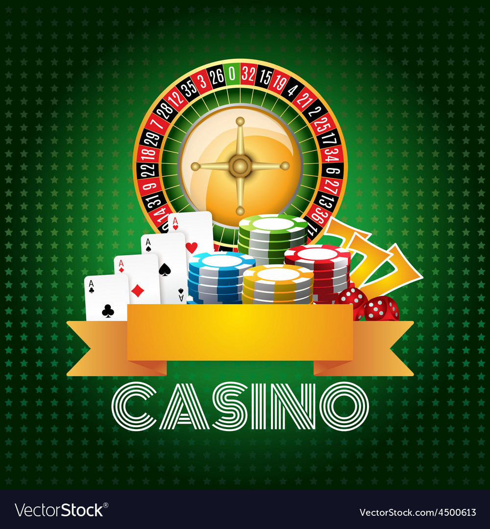 Casino background poster print vector | Price: 3 Credit (USD $3)
