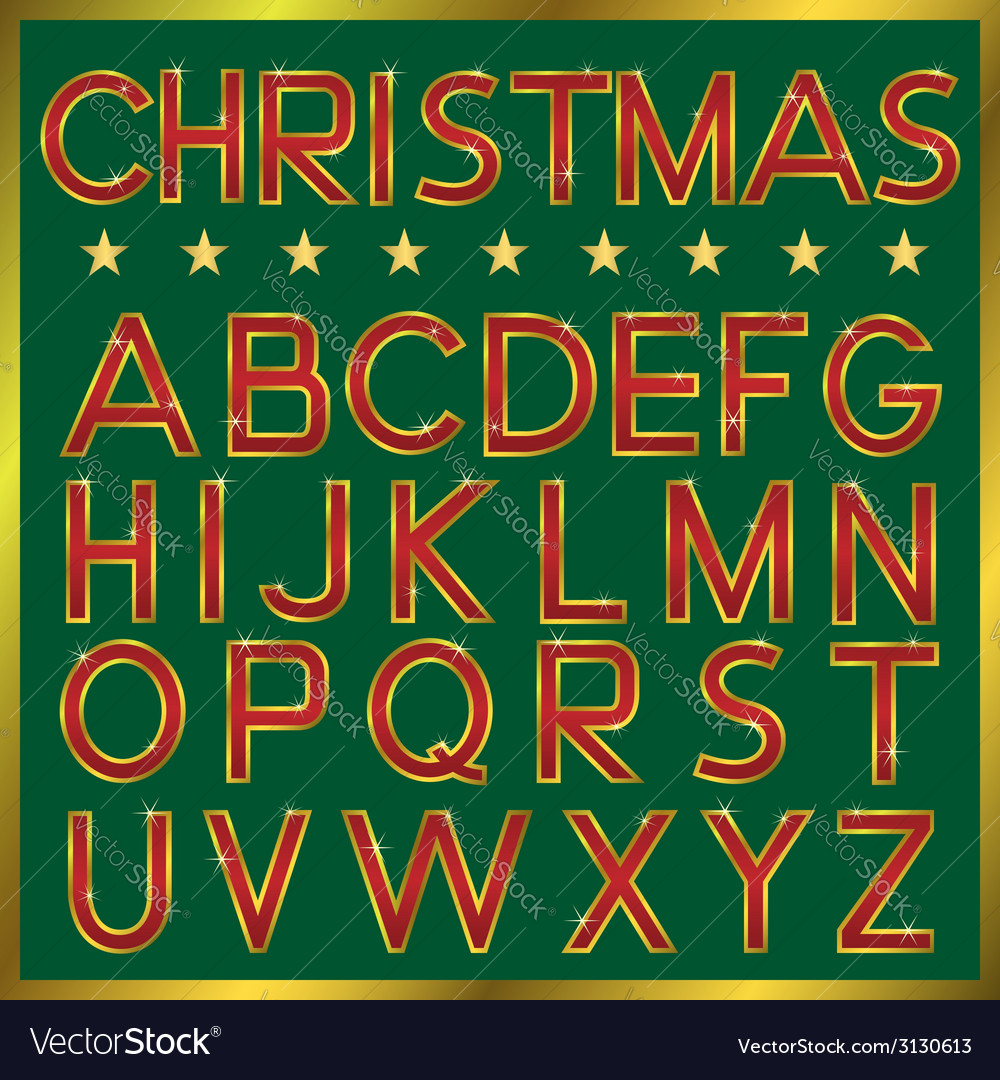 Christmas font vector | Price: 1 Credit (USD $1)