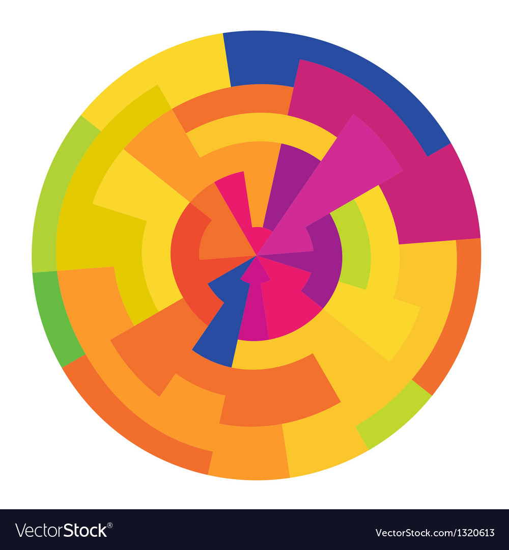 Colorful circle abstract vector | Price: 1 Credit (USD $1)