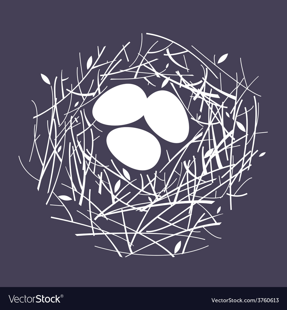 Cozy nest vector