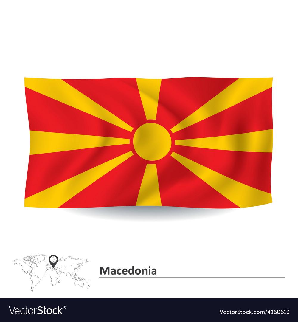 Flag of macedonia vector   Price: 1 Credit (USD $1)