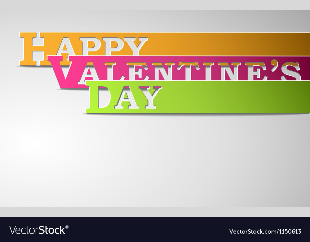 Happy valentines day strips vector | Price: 1 Credit (USD $1)