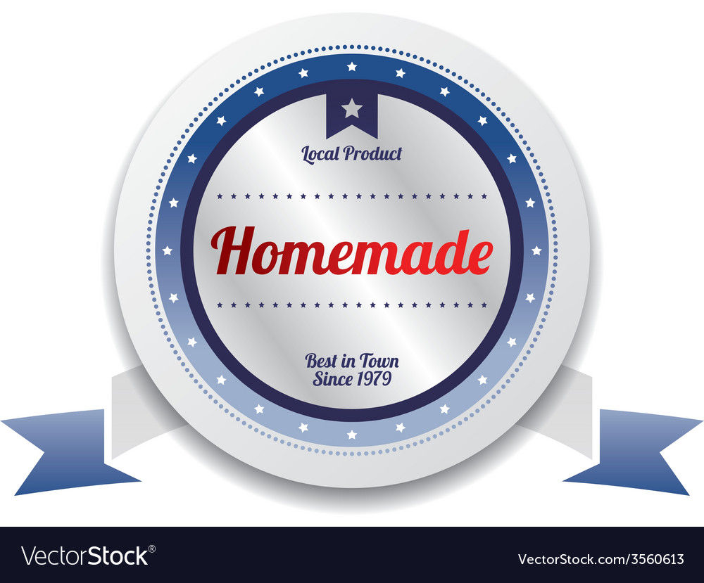 Homemade product sale and quality label sticker vector | Price: 1 Credit (USD $1)