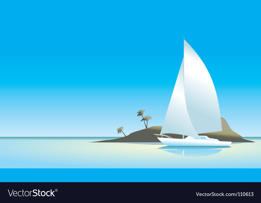 Island wallpaper vector | Price: 1 Credit (USD $1)