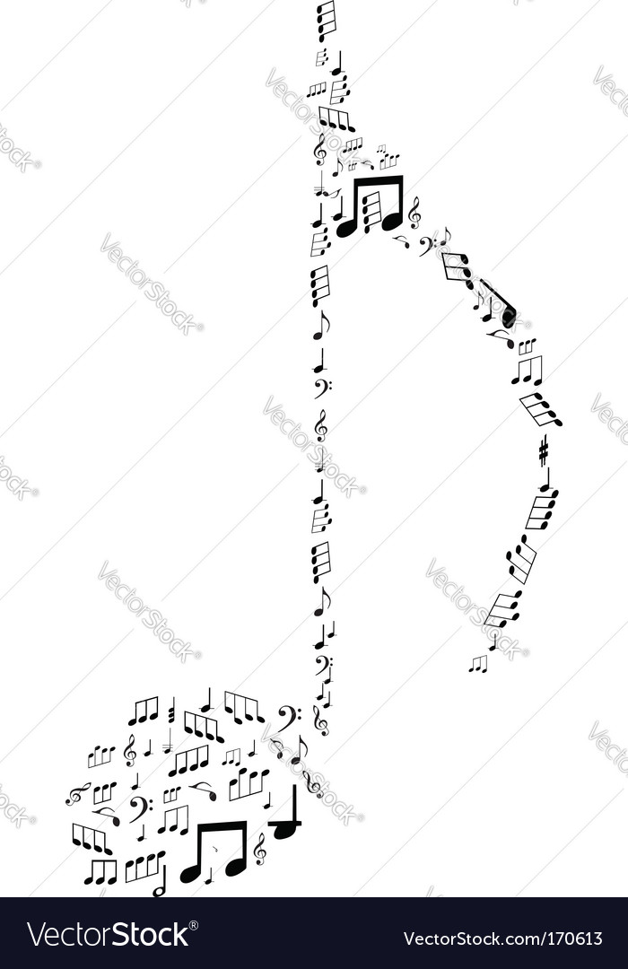 Note design by musical notes vector | Price: 1 Credit (USD $1)