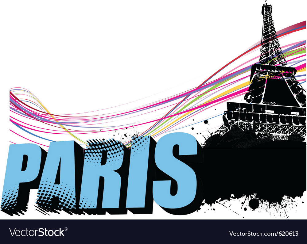 Paris border vector | Price: 1 Credit (USD $1)