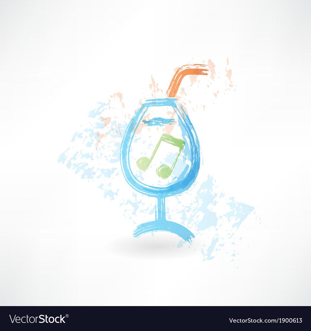 Party cocktail grunge icon vector | Price: 1 Credit (USD $1)