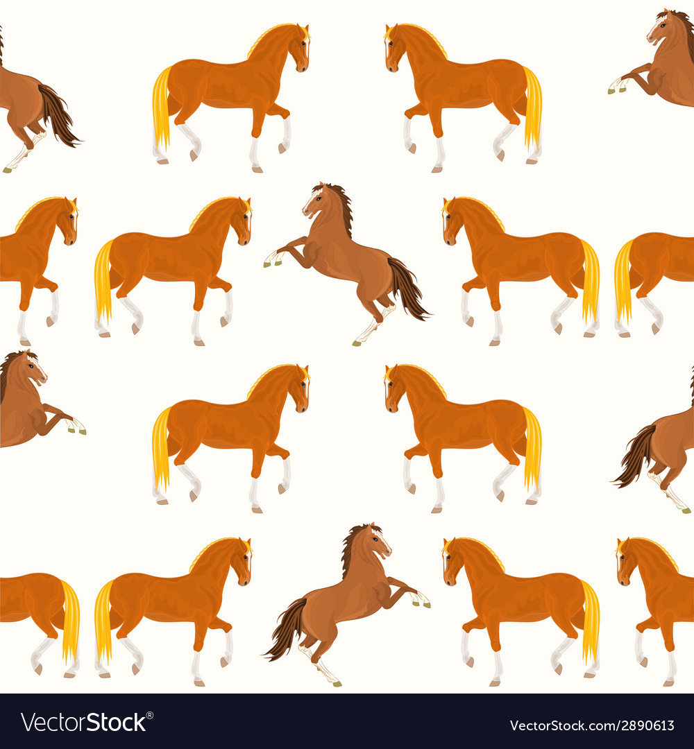 Seamless texture horses vector | Price: 1 Credit (USD $1)