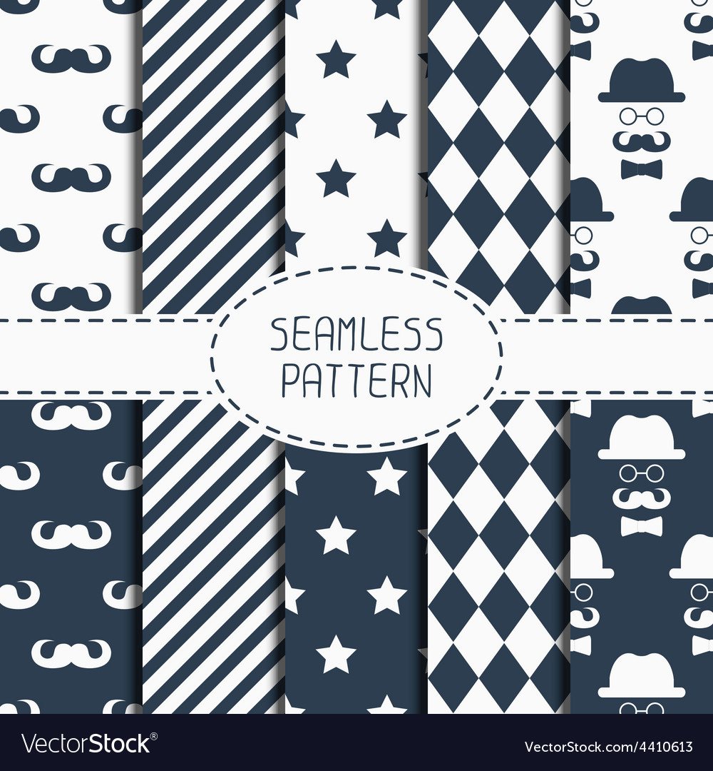 Set of hipster fashion geometric seamless pattern vector | Price: 1 Credit (USD $1)
