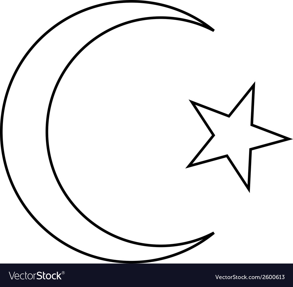 Star and crescent icon vector | Price: 1 Credit (USD $1)