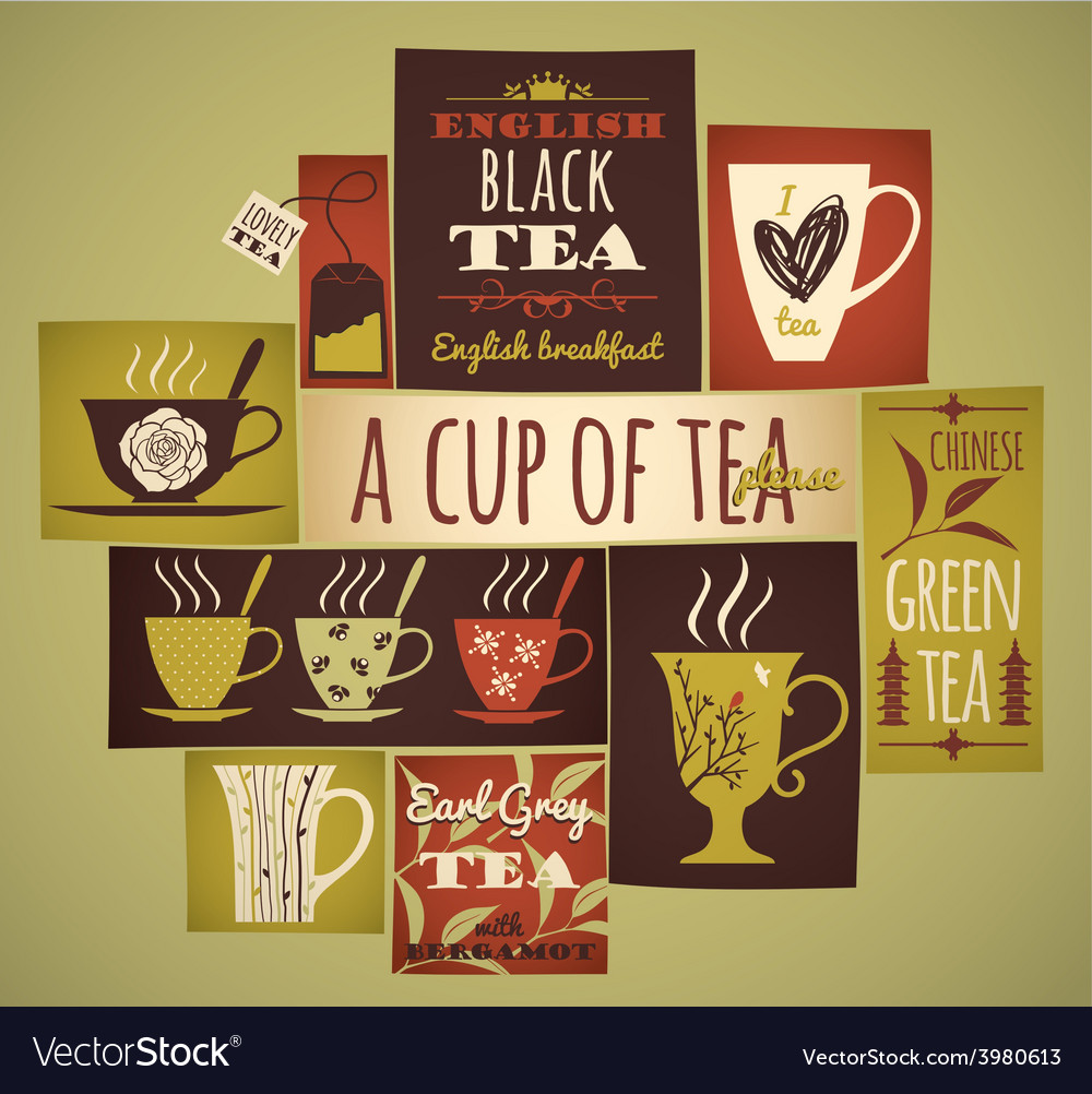 Tea collection vector | Price: 1 Credit (USD $1)